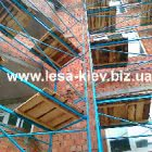 Connecting scaffolding racks